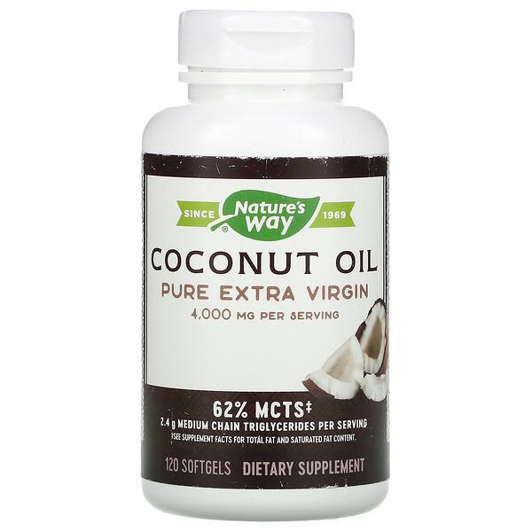 Coconut Oil, Pure Extra Virgin, 4,000 mg, 120 Softgels