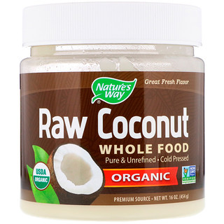 Nature's Way, Organic Raw Coconut Whole Food, 16 oz (454 g)