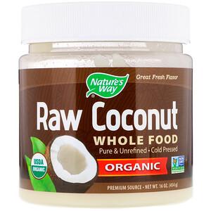 Натурес Вэй, Organic Raw Coconut Whole Food, 16 oz (454 g) отзывы
