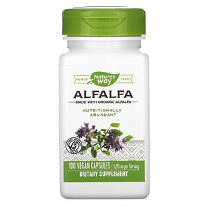 Натурес Вэй, Alfalfa, 1,215 mg, 100 Vegan Capsules отзывы покупателей