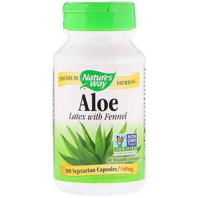 Купить Алоэ, лист и млечный сок, 475 мг, 100 вегетарианских капсул