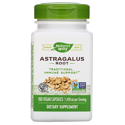Купить Nature's Way Astragalus Root, 1, 410 mg, 100 Vegan Capsules