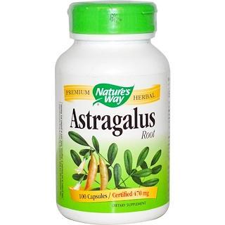 Nature's Way, Astragalus Root, 470 mg, 100 Capsules