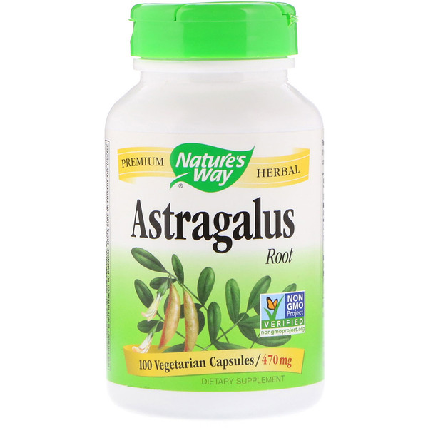 Nature's Way, Astragalus Root, 470 mg, 100 Vegetarian Capsules
