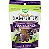 Nature's Way, Organic Sambucus, Zinc Lozenges, Berry Flavor, 24 Lozenges