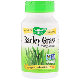 Nature's Way, Barley Grass, Young Harvest, 500 mg, 100 Vegetarian Capsules
