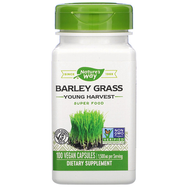 Nature's Way, Barley Grass, Young Harvest, 1,500 mg, 100 Vegan Capsules