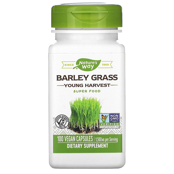 Barley Grass, Young Harvest, 1,500 mg, 100 Vegan Capsules