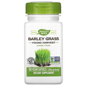 Натурес Вэй, Barley Grass, Young Harvest, 1,500 mg, 100 Vegan Capsules отзывы покупателей