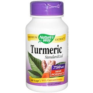 Nature's Way, Turmeric Standardized, 750 mg, 60 Veggie Caps