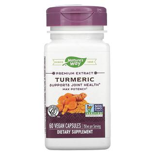 Nature's Way, Premium Extract, Turmeric, 750 mg, 60 Vegan Capsules