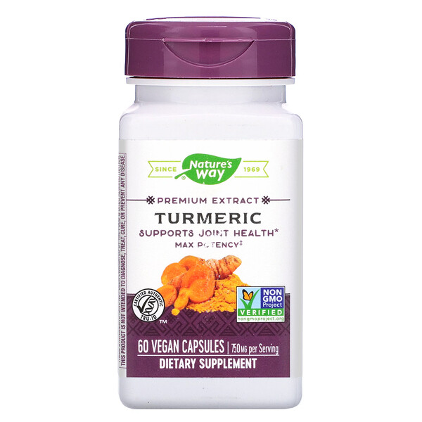 Nature's Way, Premium Extract, Turmeric, 750 mg, 60 Vegan Capsules