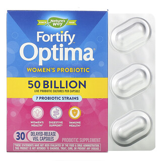 Nature's Way, Fortify Optima, Women's Probiotic, 50 Billion, 30 Delayed Release Veg. Capsules