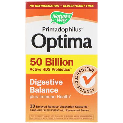 Купить Primadophilus Optima, Digestive Balance Plus Immune Health, 30 Delayed Release Vegetarian Capsules