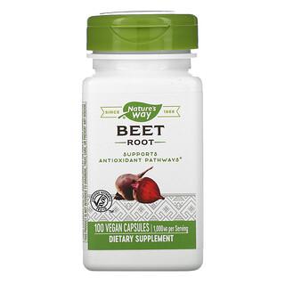 Nature's Way, Beet Root, 500 mg, 100 Vegan Capsules