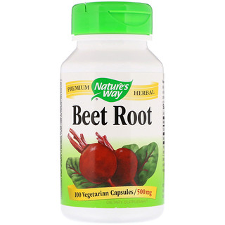 Nature's Way, Beet Root, 500 mg, 100 Vegetarian Capsules