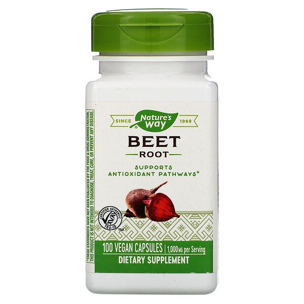 Beet Root, 1,000 mg , 100 Vegan Capsules