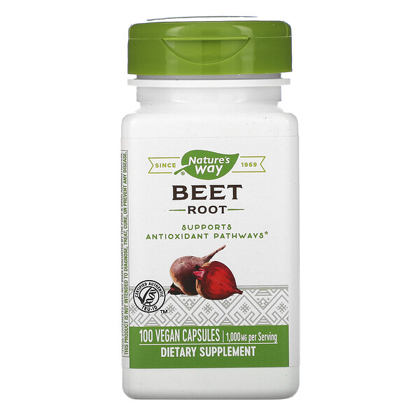 Beet Root, 1,000 mg, 100 Vegan Capsules