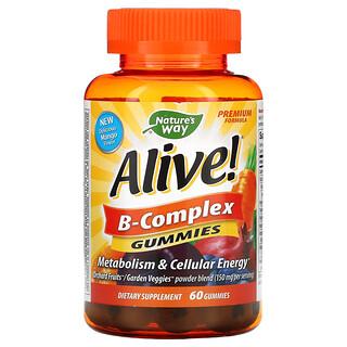Nature's Way, Alive! B-Complex Gummies, Mango, 60 Gummies