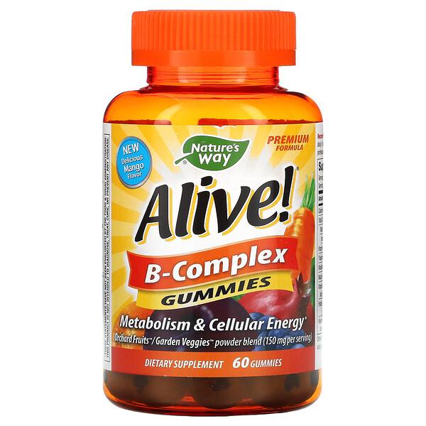 Alive! B-Complex Gummies, Mango, 60 Gummies