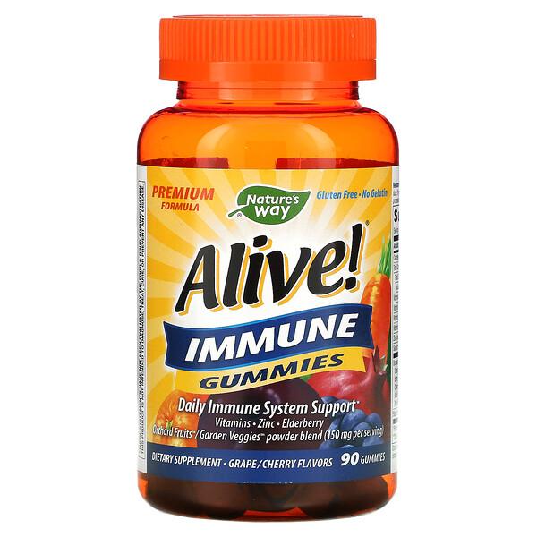 Alive! 机体抵抗能力软糖,葡萄/樱桃口味,90 粒软糖