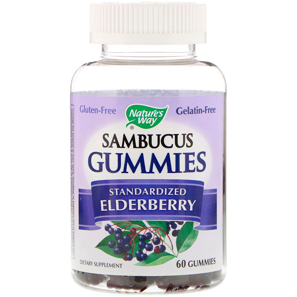 Nature's Way, Sambucus Gummies, Standardized Elderberry, 60 Gummies