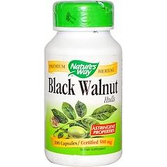 Nature's Way, Black Walnut, Hulls, 500 mg, 100 Capsules