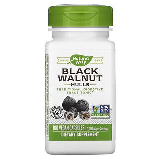 Nature's Way, Cáscaras de nuez negra, 500 mg, 100cápsulas veganas