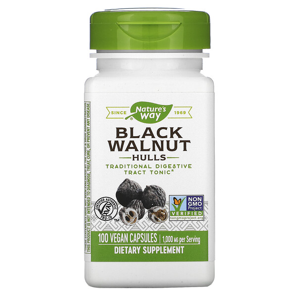 Nature's Way, Black Walnut Hulls, 1,000 mg, 100 Vegan Capsules