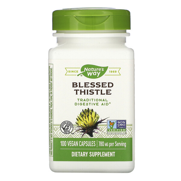 Blessed Thistle, 780 mg, 100 Vegan Capsules