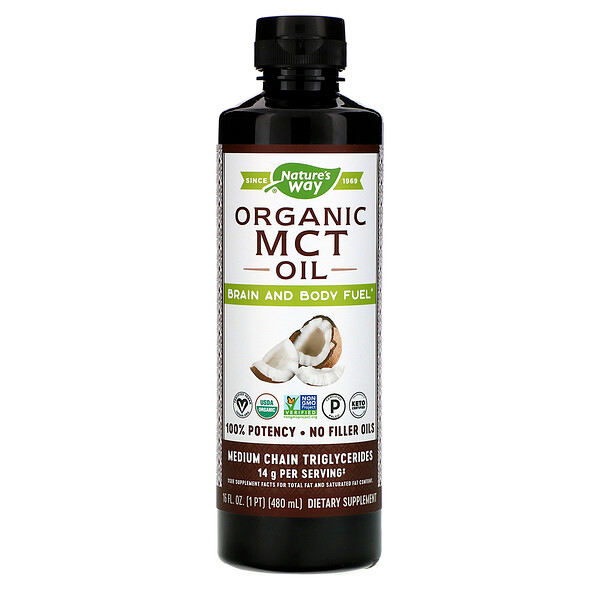 Organic MCT Oil, 16 fl oz (480 ml)