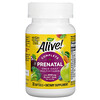 Nature's Way, Alive! пренатальный комплекс мультивитаминов, прием один раз в день, 30капсул