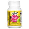 Nature's Way, Alive! فيتامينات متعددة للشعر والبشرة والأظافر، فراولة، 60 كبسولة هلامية