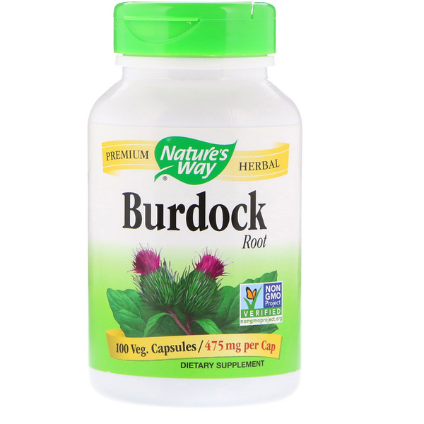 :Nature's Way, Burdock Root, 475 mg, 100 Veg Capsules