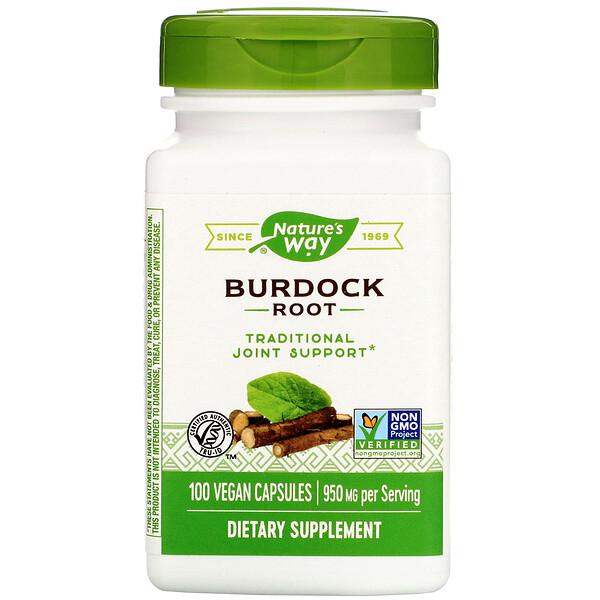 Nature's Way, Burdock Root, 950 mg, 100 Vegan Capsules