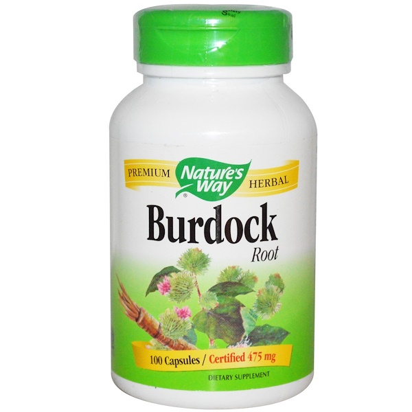 Nature's Way, Burdock Root, 475 mg, 100 Capsules