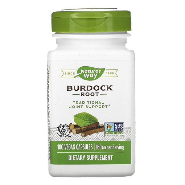 Nature's Way, Burdock Root, 950 mg, 100 Vegan Capsules
