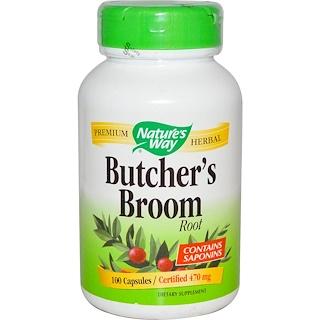 Nature's Way, Butcher's Broom, Root, 470 mg, 100 Capsules