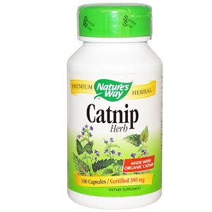Натурес Вэй, Catnip Herb, 380 mg, 100 Capsules отзывы