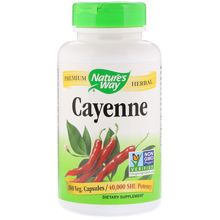 Nature's Way, Cayenne, 180 Veg. Capsules