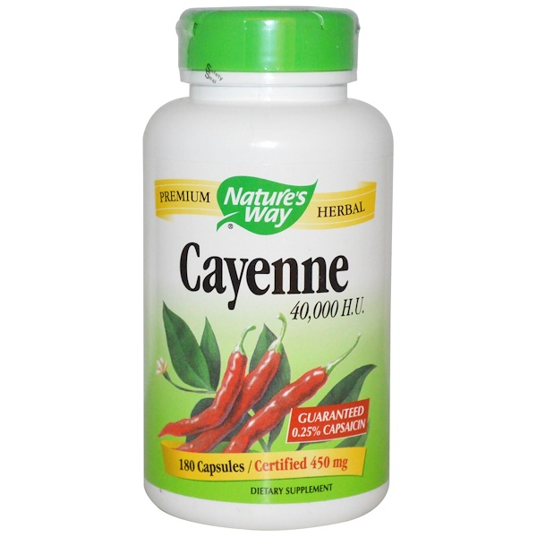 Nature's Way, Cayenne, 450 mg, 180 Capsules