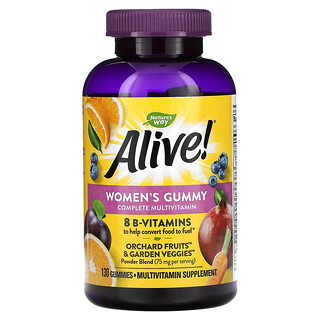 Nature's Way, Alive! Women's Gummy Complete Multivitamin, Mixed Berry, 130 Gummies