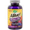 Nature's Way, Alive! Women's 50+ Gummy Vitamins, Fruit Flavors, 130 Gummies