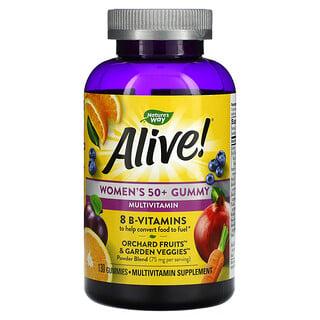 Nature's Way, Alive! Women's 50+ Gummy Multivitamins, Mixed Berry, 130 Gummies