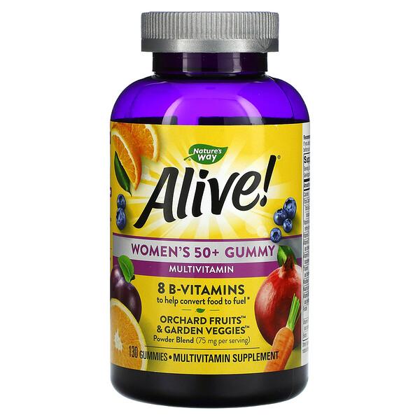 Alive! Women's 50+ Gummy Multivitamins, Mixed Berry, 130 Gummies