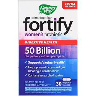 Nature's Way, Primadophilus, Fortify, Women's Probiotic, Extra Strength , 30 Veggie Capsules