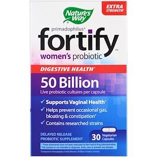 Nature's Way, Primadophilus, Fortify, 여성 프로바이오틱, 엑스트라 스트렝스 , 30 식물성 캡슐