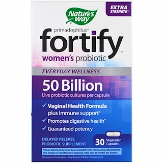 Nature's Way, Primadophilus, Fortify, Women's Probiotic, Extra Strength, 30 Veggie Capsules