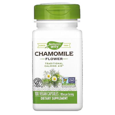 Nature's Way Chamomile Flower, 700 mg, 100 Vegan Capsules