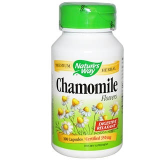 Nature's Way, Chamomile Flowers, 350 mg, 100 Capsules